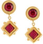 Dolce & Gabbana crystal drop clip-on earrings