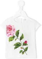 Dolce & Gabbana floral print T-shirt - kids - Cotton - 6-9 mth