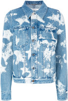 Givenchy bleached star denim jacket - women - Cotton/Polyester - 38