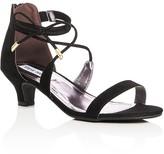 Steve Madden Girls' Ankle Strap Kitten Heel Sandals