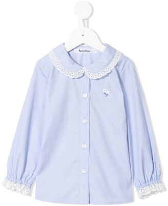 Familiar Broderie Anglaise Trim Shirt