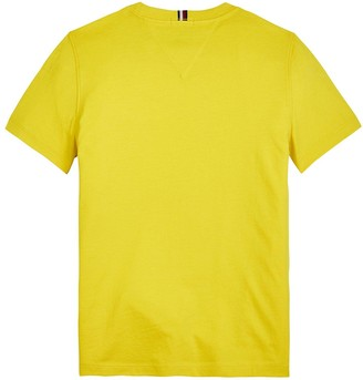 Tommy Hilfiger Boys Short Sleeve Essential Flag T-Shirt - Yellow
