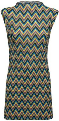 M Missoni Zig Zag Pleated Mini Dress