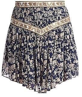 Etoile Isabel Marant Women's Valerine Midnight Print Handkerchief Skirt