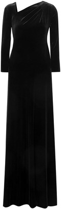 Giorgio Armani Ruched Velvet Maxi Dress
