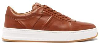 Tod's Cassetta Low Top Leather Trainers - Mens - Brown