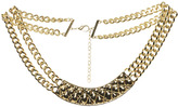 Arden B Textured Metal Bar Necklace