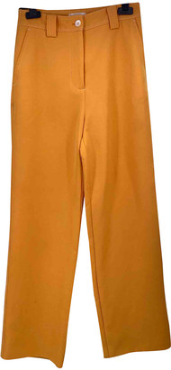 Stine Goya Yellow Polyester Trousers