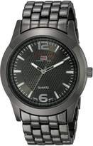 U.S. Polo Assn. Men's Dial Extra Long Gun Metal Bracelet Watch US8444EXL