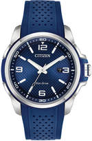 Citizen Drive From Eco-Drive Men's Blue Polyurethane Strap Watch 45mm