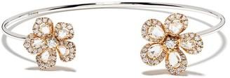 David Morris 18kt rose gold diamond Miss Daisy bangle