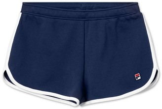 Fila Saman Elasticated Tie-Waist Cotton Mix Shorts