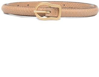 Dorothee Schumacher Buckle-Fastening Skinny Leather Belt