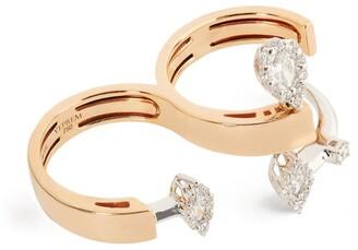 YEPREM Rose Gold and Diamond Electrified Ring