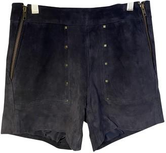 Karl Marc John Blue Leather Shorts for Women