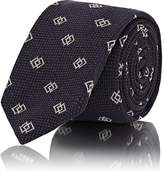 Ralph Lauren Purple Label MEN'S DIAMOND JACQUARD TEXTURED MULBERRY SILK NECKTIE