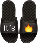 ISlide It's Lit Emoji Slide Sandal, Black