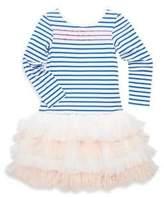 Billieblush Toddler's, Little Girl's & Girl's Stipe Jersey Tulle Dress