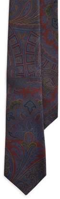 Ralph Lauren Paisley Cashmere-Silk Tie