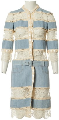 Christian Dior Blue Cotton Coat for Women Vintage