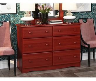 Charlton Home West Newbury 6 Drawer Double Dresser Color: Honey Pine