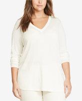 Lauren Ralph Lauren Plus Size V-Neck Sweater