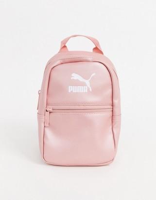 Puma Core Minime backpack in metallic pink
