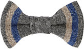 Alexander Olch MEN'S STRIPED LINEN BOW TIE
