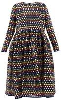 Ashish Sequined Midi Dress - Womens - Black Multi