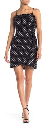 Lush Polk Dot Ruffle Trim Mini Dress