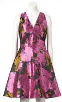 Ronni Nicole Women's Floral Taffeta Fit & Flare Dress