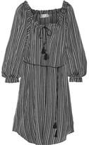 Zimmermann Pavilion Striped Cotton-gauze Dress - Black