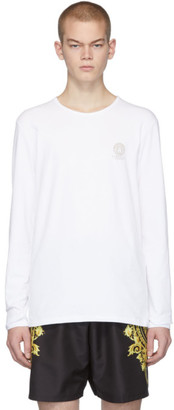 Versace Underwear White Logo Long Sleeve T-Shirt