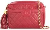 Chanel Pre Owned 1991-1994 Chanel quilted fringe chain shoulder bag