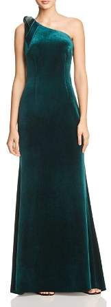 Eliza J One-Shoulder Velvet Gown