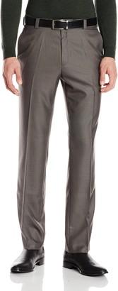Kenneth Cole Reaction Men's Sharkskin Slim Fit Flat Front Pant