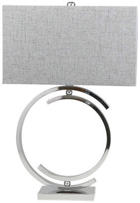Sagebrook Home Metal Cc Table Lamp, Silver, 29""