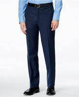 Kenneth Cole New York Navy Solid Slim-Fit Pants