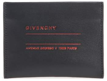 Givenchy Address Leather Card Case