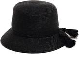 Cloche Justine Hats Black Straw Hat For Women