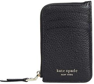 Kate Spade Roulette Zip Cardholder (Black) Handbags