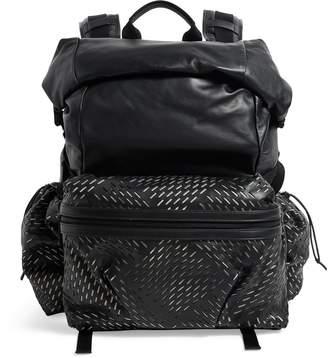 Bottega Veneta Medium Perforated Fold-Top Backpack