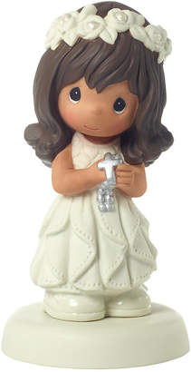 Precious Moments May His Light Shine Brunette Girl First Communion Figurine