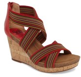Sofft Women's Cary Cross Strap Wedge Sandal