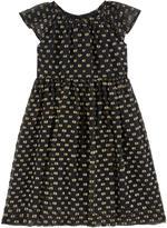 Burberry Dotted silk dress