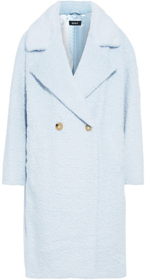 DKNY Double-breasted Faux Fur Coat