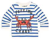 Stella McCartney Baby Boy's Ted Striped Feeling Crabby Cotton Tee