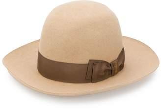 Borsalino bow detail sun hat