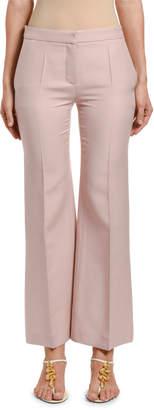 Valentino Wool-Silk Wide-Leg Pants