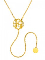 BaubleBar Mini Monogram Y-Necklace